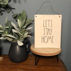 rae dunn lets stay home wall sign
